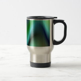 Colorful electric waves travel mug