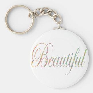colorful elegant beautiful basic round button keychain