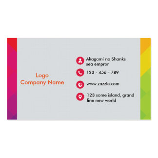 Colorful elegant business card