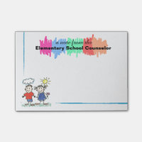 Colorful Elementary School Counselor Sticky Notes