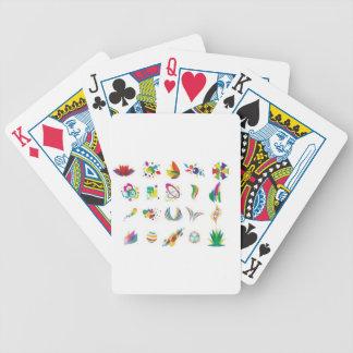 Colorful elements design card deck