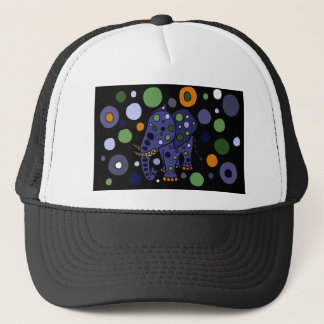 Colorful Elephant and Circles Art Design Trucker Hat