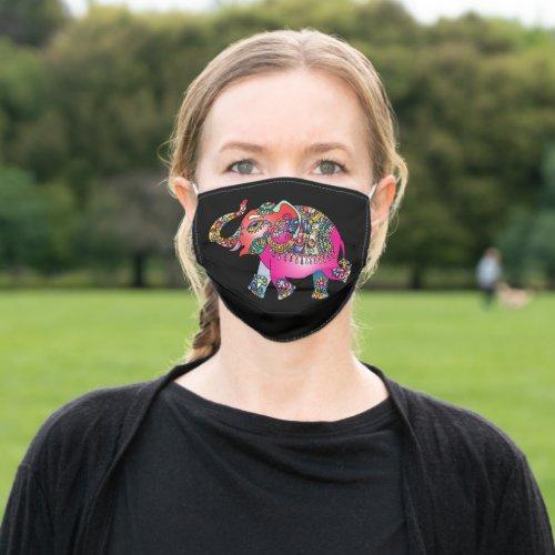 Colorful Elephant Art Face Masks