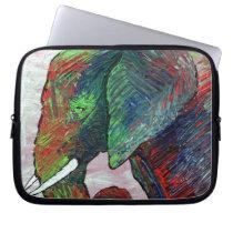 Colorful Elephant Art Laptop Sleeve