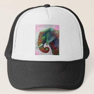 Colorful Elephant Art Trucker Hat