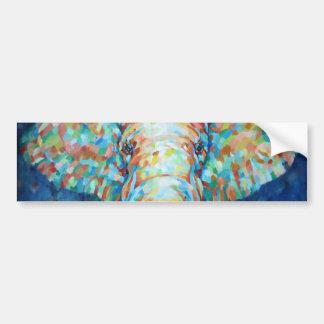 Colorful Elephant Car Bumper Sticker
