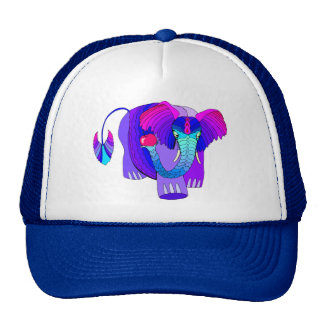 Colorful Elephant: Cute Cap Trucker Hat