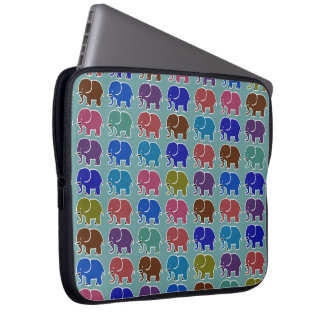 colorful elephant design laptop sleeves