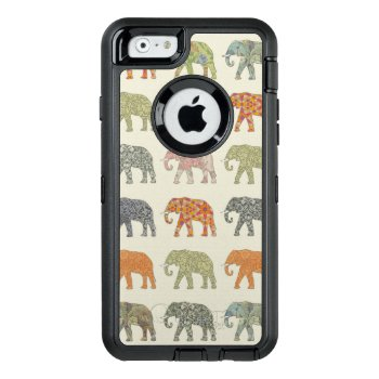 Colorful Elephant Designer Pattern Otterbox Defender Iphone Case by vintagechicdesign at Zazzle