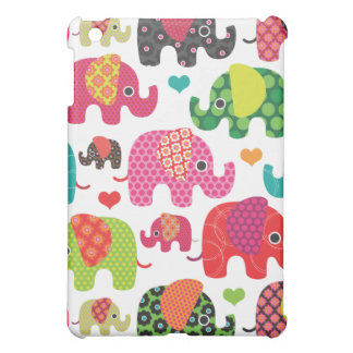 Colorful elephant kids pattern ipad case