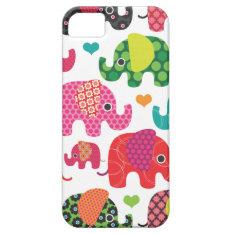 Colorful Elephant Kids Pattern Iphone Case at Zazzle