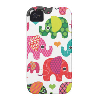 Colorful elephant kids pattern iphone case case for the iPhone 4