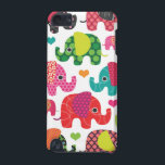 "Colorful elephant kids pattern ipod case<br><div class=""desc"">Colorful elephant pattern with hearts for kids. Cute christmas or holiday gift for your ipad ipod iphone samsung or blackberry. Check out other designs in my designalicious store!</div>"