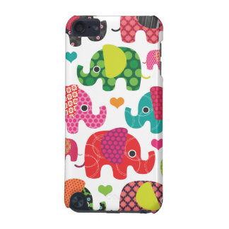 Colorful elephant kids pattern ipod case iPod touch 5G case