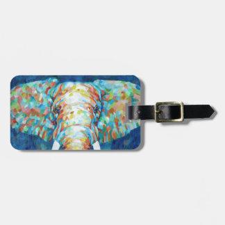 Colorful Elephant Luggage Tag