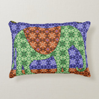 Colorful Elephant Pattern Decorative Pillow