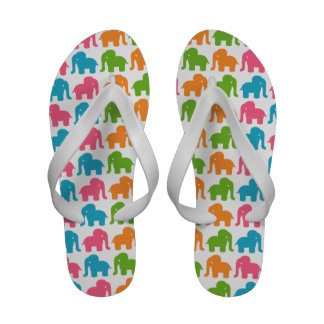Colorful Elephant Pattern Sandals