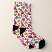 Colorful Elephant Patterns Socks