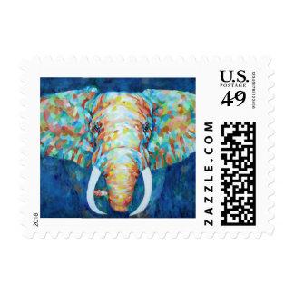 Colorful Elephant Postage