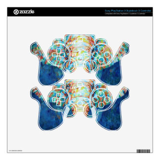 Colorful Elephant PS3 Controller Decals