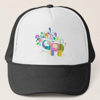 Colorful Elephant Splashing Trucker Hat
