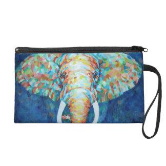 Colorful Elephant Wristlet