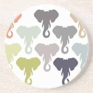 colorful elephants drink coaster