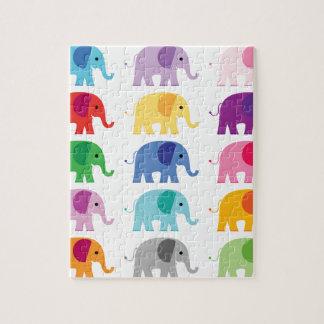 Colorful elephants jigsaw puzzle