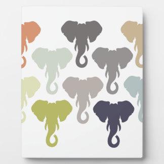 colorful elephants plaque