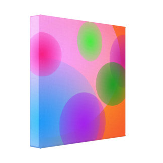 Colorful Ellipses Canvas Print