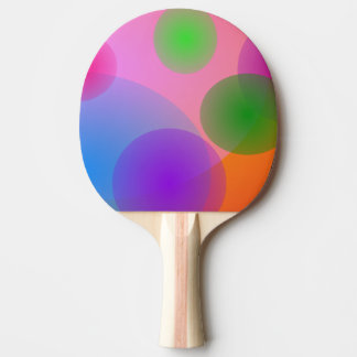 Colorful Ellipses Ping-Pong Paddle