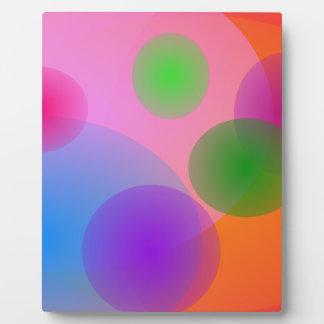 Colorful Ellipses Photo Plaque