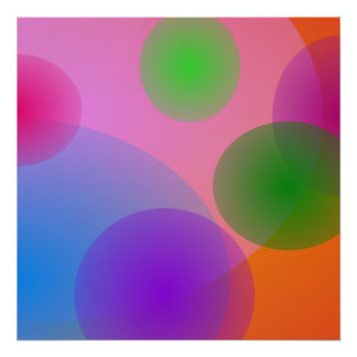 Colorful Ellipses Poster