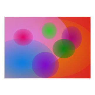 Colorful Ellipses Posters