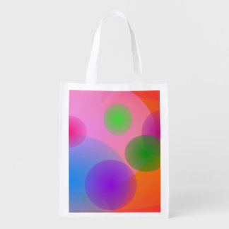 Colorful Ellipses Grocery Bag
