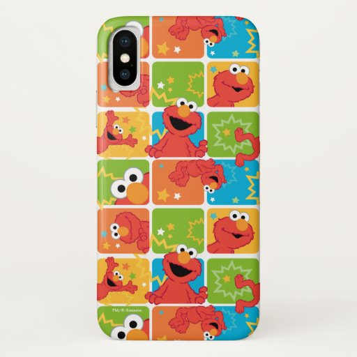 Colorful Elmo Grid Pattern iPhone X Case