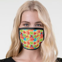 Colorful Elmo Grid Pattern Face Mask
