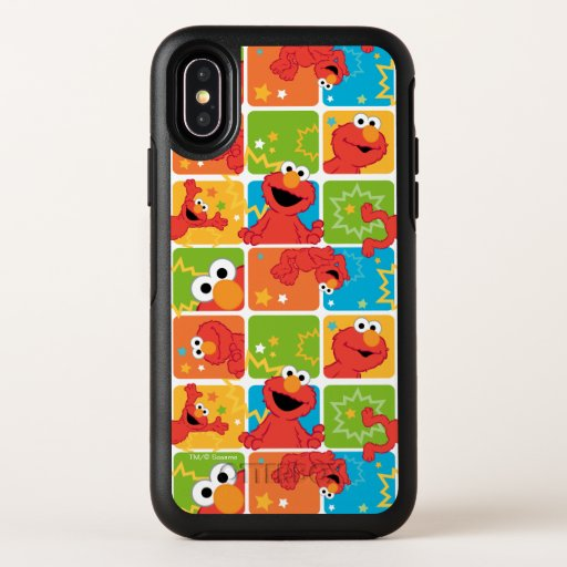 Colorful Elmo Grid Pattern OtterBox Symmetry iPhone X Case