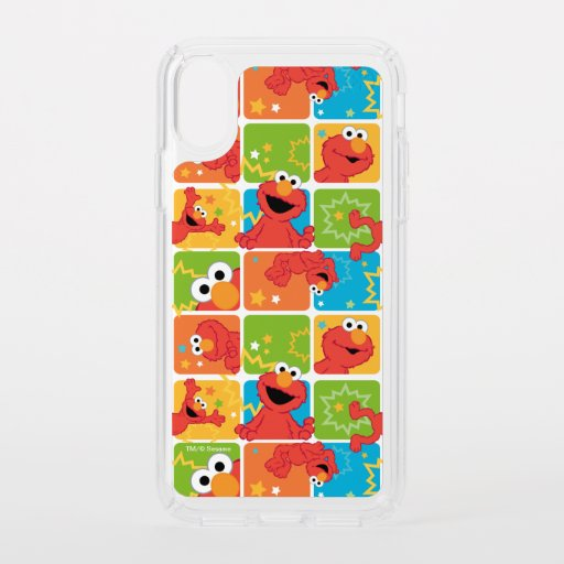 Colorful Elmo Grid Pattern Speck iPhone X Case