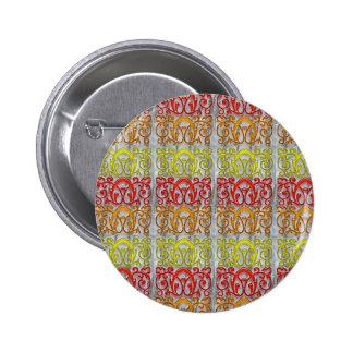 Colorful Embossed Pattern Art NVN170 navinJOSHI Buttons