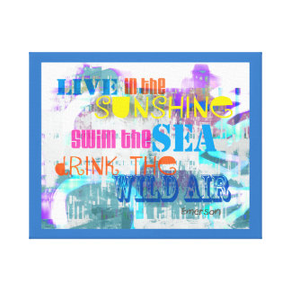 colorful Emerson quote stretched canvas wall art