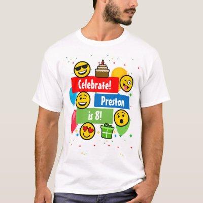 b35e94a0d Birthday Boy Emoji T-Shirt | Zazzle.com