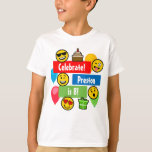 Colorful Emoji Birthday Party Kids or Boys Custom T-Shirt