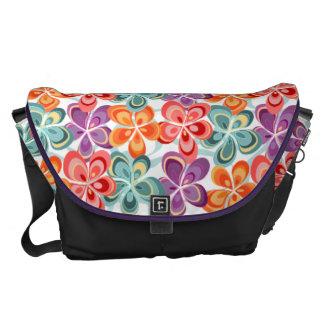 Colorful Enamel Floral Decor Courier Bag