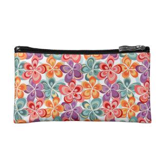 Colorful Enamel Floral Decor Makeup Bag
