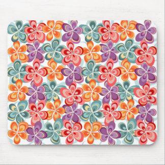 Colorful Enamel Floral Decor Mouse Pad