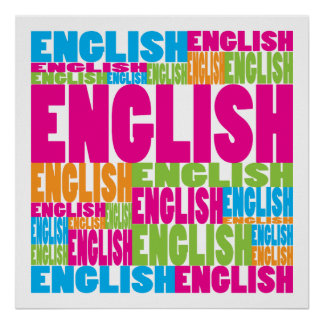 Colorful English Poster