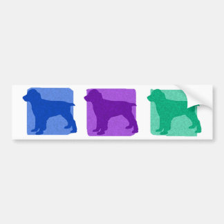 Colorful English Springer Spaniel Silhouettes Car Bumper Sticker