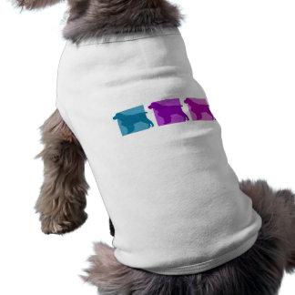 Colorful English Springer Spaniel Silhouettes Doggie Tee Shirt