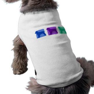 Colorful English Springer Spaniel Silhouettes Pet Tshirt